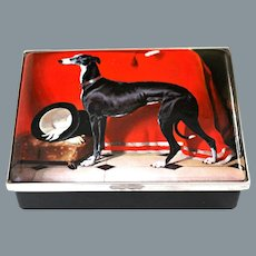 Large Halcyon Days Enamel Box EOS Greyhound after Sir Edwin Henry Landseer 49/150