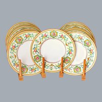 11 Tiffany & Co Hand Painted Plates by Cauldon England