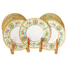 11 Tiffany & Co Hand Painted Plates by Cauldon England
