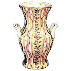 Antique Carl Thieme Porcelain Vase Hand Painted Ca 1900's