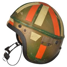Gentex U.S. Navy Jet Pilot H-4 Korean War Decorated Helmet w Microphone Medium