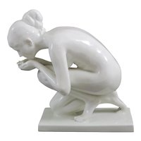 "Rosenthal Art Department SELB Porcelain Figurine ""The Drinking End"" Ernst Wenck"