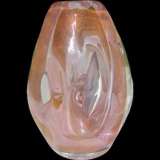 Stunning Art Glass Bud Vase by Dominick Labino