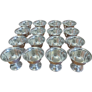 Frank W. Smith Set Of Sixteen Sterling Silver Sherbets