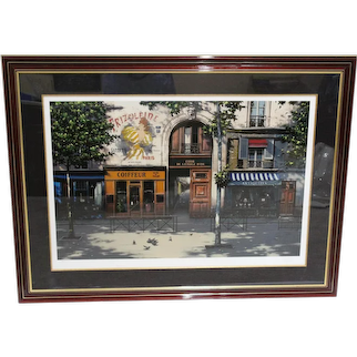 Thomas Pradzynski Seriagraph 45/200 Cour de L'etoile D'or Pencil Signed