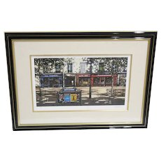 Thomas Pradzynski Seriagraph 129/200 Affiches Pencil Signed Framed