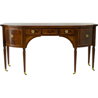 Collectors Edition by Baker Furniture Sheraton Style Inlaid Mahogany Regency Sideboard