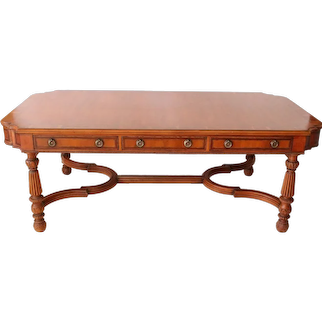 Alfonso Marina Ebanista Georgian Style Writing Table