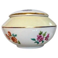 Sweet Vintage French Porcelain Powder Jar