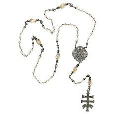Swarovski crystal Sacred Heart Catholic wire-wrapped heirloom rosary