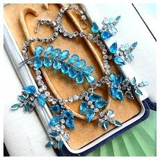 Vintage 1950s Necklace & Brooch Demi-Parure Set in Great Condition.