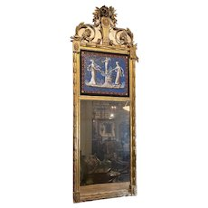 French Empire Mirror With Eglomise