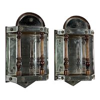 Antique English Mirrored Wall Brackets