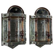Antique English Mirrored Wall Brackets
