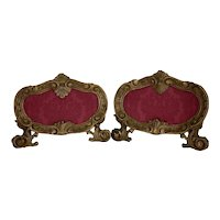 Pair of Italian Oval Reliquaries