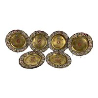 Capodimonte Armorial Porcelain Plates - Set of Eight