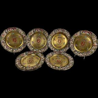 Capodimonte Armorial Porcelain Plates - Set of Eight