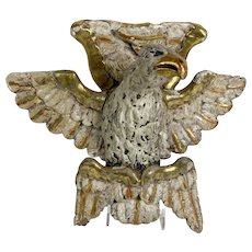 Italian Carved Wood Gilded Eagle Wall Hanging Circa 1860