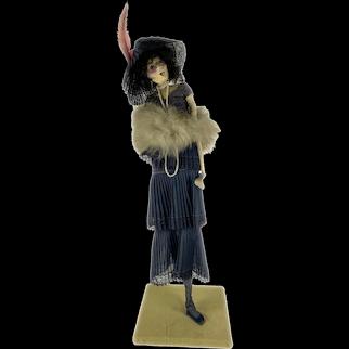 American Made Paper Mache Flapper Doll