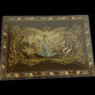 1870 English Lap Desk Box