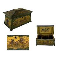 English Regency Style Chinoiserie Tea Caddy