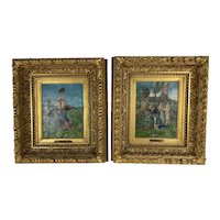 Pair of Painting By Italian Artist Indoni