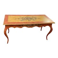 Hand Painted Louis XV Style Desk With Floral Design