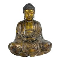 Mid Century Bronze Gilded Buddha