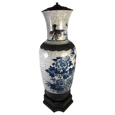Chinese Crackle Vase As A Lamp