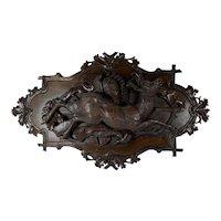 Black Forest Carved Deer Plaque