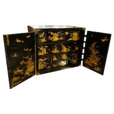 18th Century Chinoiserie Collectors Cabinet