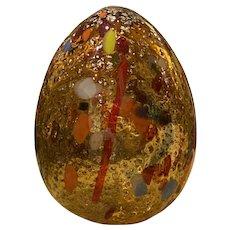 Mid Century Murano Glass Egg