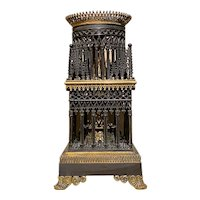 Bronze and Bronze Dore Candleholder From France