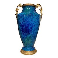 Blue Sevres Vase With Bronze