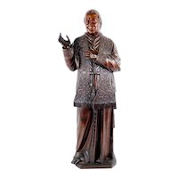 French Oak Carved Statue of Saint