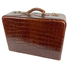 Vintage Crocodile Suitcase by Hartmann