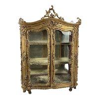18th Century Italian Rococo Giltwood Cabinet