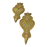 18th Century Italian Fabric Covered Sconces - A Pair