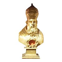 Carved Italian Bishop With Original Gilding