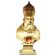 Carved Italian Bishop With Original Gilding