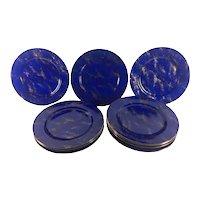 Faux Lapis Lazuli Plates From Neiman Marcus Set of Twelve