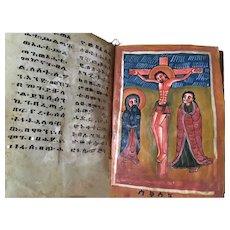 Coptic Book With Original Painting