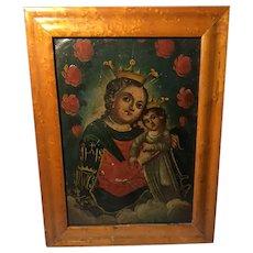 Antique Tin Painting