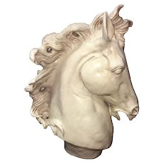 Vintage Italian Horse Head Sculpture