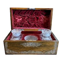 Tea Caddy With Mixing Bowl And Decanters