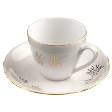 1922-1945 Cup & Saucer Bohemia Ceramic Works Porcelain China