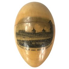 Mauchline Ware Egg Form thimble Holder Etui