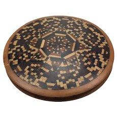 Tunbridge Ware Pin Wheel Pin Cushion