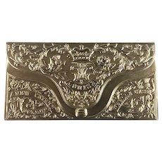 Victorian Avery Style Gilt Brass Needle Case 'Louise' - Circa 1873