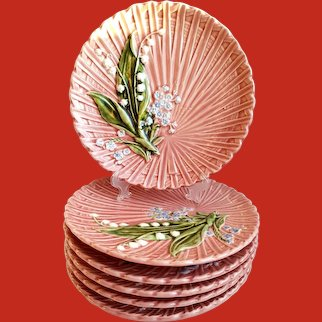 Schramberg Majolica Lily of the Valley Plate